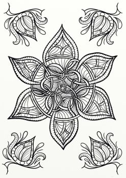 Celtic Knot Flower Coloring Page by LorraineKelly