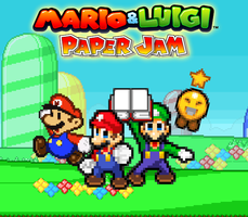 Mario and Luigi Paper Jam - Poster (My Version) by AsylusGoji91
