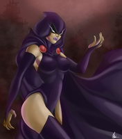 Teen Titans - Raven(Color) by MissAudi