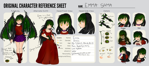 Emma Sama Reference Sheet by l-lappy