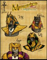 Mummies Alive Armor Sketches by uddelhexe