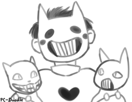 Art Trade: Zacharie Loves Cats [Animated] by PC-Doodle