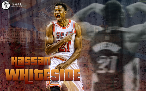 Hassan Whiteside Wallpaper by PavanPGraphics