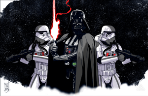 Lord Vader and His Troopers: STAR TOURS Variant by Hodges-Art
