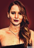 Jennifer Lawrence painting by daniacdesign