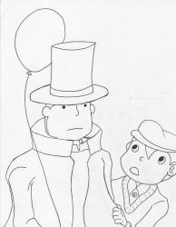 Professor Layton and Lukas by kuhu