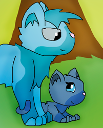 Icey and Waterfall Best firends by Foziz105