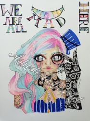 We are all MAD here by AshestoLashesArt