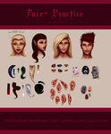Face Plus - Monthly Practice by TheLuciferArt