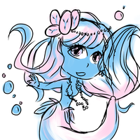 Two-Color Sketch Challenge: Moonlight Mermaid by Scarletts-Fever