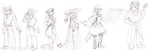 PG Character Sketches by RoseSagae
