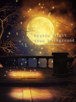 Mystic Night free background by KlaraKay