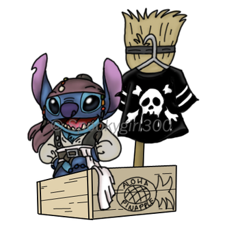 Captain Stitch Sparrow by Spookygirl300