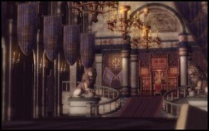 Ostrheinsburg Castle Throne Room by deexie