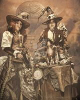 Steampunk witches by babsartcreations