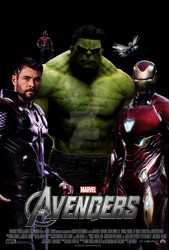 The Avengers movie poster by ArkhamNatic