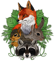 =Forest Friends= by KasaraWolf