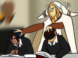 Hogwarts AU: Less Flirting More Studying by Mouse-La-Flutist