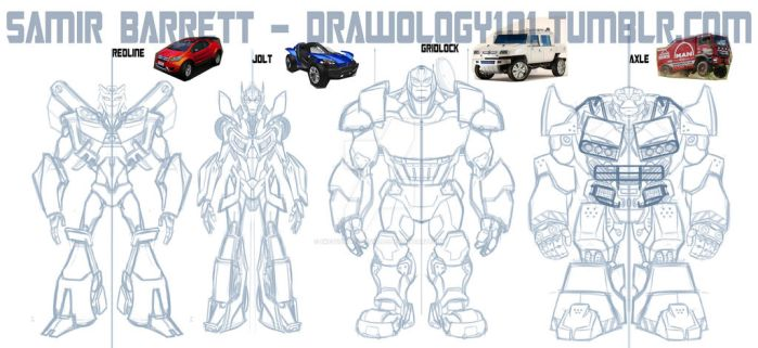 Transformer OC Sketches by sketchmasterskillz
