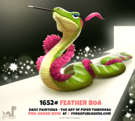 Daily Painting 1652# - Feather Boa by Cryptid-Creations