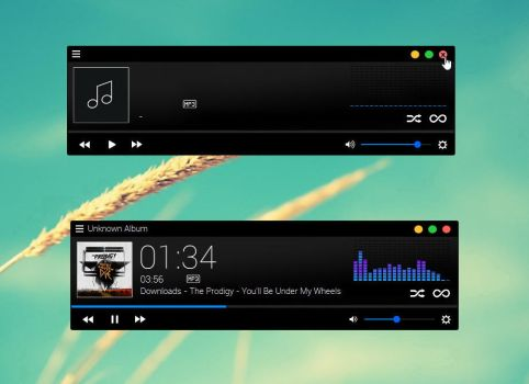 Qualima Music Player for xwidget by Jimking