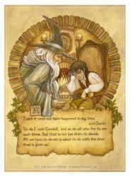 Frodo and Gandalf by BohemianWeasel