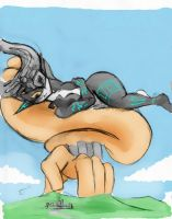 Giantess Draw - Titan Midna #1 by Colonel-Gabbo