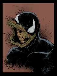 Venom Art by ClaudioNunes 2018 Flat by CRNEX