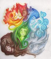 chinese elementals by RikkiSoup