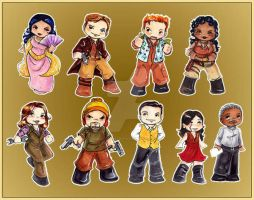 Firefly Character Stickers by GalacticDustBunnies