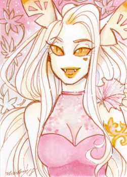 ACEO Astrid in Pink by nickyflamingo