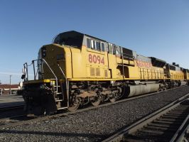 UP 8094 In Yard by Mellette