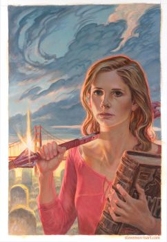 Buffy the Vampire Slayer comic cover s10 issue 30 by StevenJamesMorris