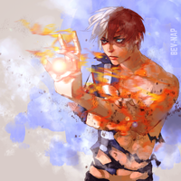 Power Up Todoroki by Bev-Nap