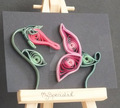 Flowers from The Wall Quilled ATC by MySpecialist