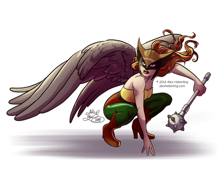Hawkgirl by alex-heberling