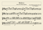 Flute Arrangement: Believe- from the Polar Express by flutepiccy