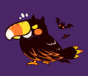Halloween Toucan commission by Sissi6