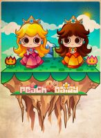 Peach and Daisy by jennduong