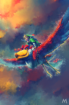 Flying through the clouds [Smudge] by MihaiSky