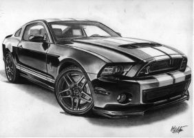 Shelby GT500 2013 drawing by alainmi