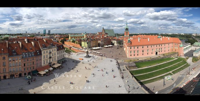 Warsaw - Castle Square by EagleEye666666