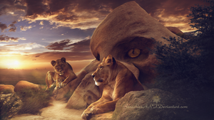 Temple of the Lions by Ellysiumn