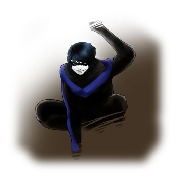 Nightwing pose by LadyProphet