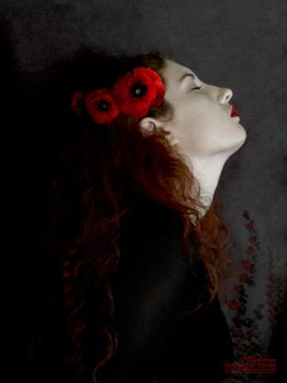 Selfportrait With Poppies by temporary-peace