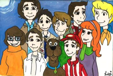 Scoobynatural with Jack and Samandriel by Rukiaoceanspirit1