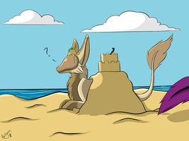 Why you shouldn't sleep at the beach by April-Cakes