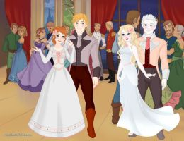Wedding Of Anna And Kristoff by Yandere-ChanKawaii13