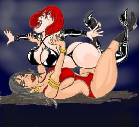 Vampirella vs Chastity by TinOmenOgre