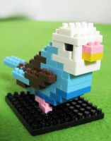 Mini Lego Parakeet by GirlyGamerGeek